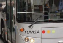 frenazo Autobús de Tuvisa en Vitoria-Gasteiz