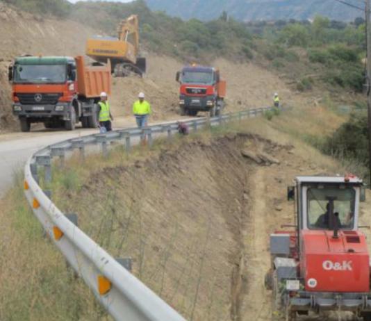 carretera obras cortes tramo