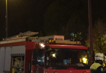 bomberos encima