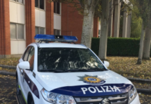 Coche de la Polizia en Vitoria-Gasteiz