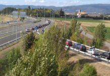 retenciones nudo trafico accidentes carreteras alavesas