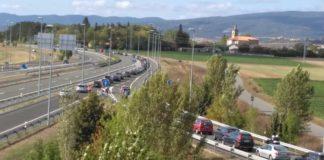 desvíos retenciones nudo trafico accidentes carreteras alavesas