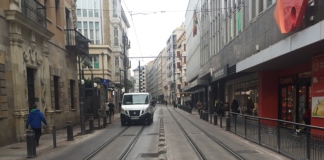 Carriles del tranvía de Vitoria-Gasteiz