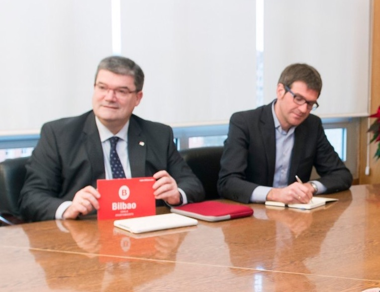 Alcalde de Bilbao, Juan María Aburto y Alcalde de Vitoria-Gasteiz, Gorka Urtaran