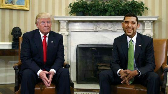 Broma de Oscar Fernández con Donald Trump