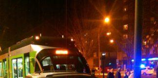 Accidente del tranvía de Vitoria-Gasteiz en Portal de Foronda