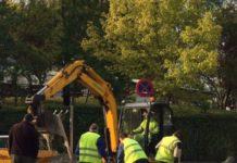 retraso en las obras en Vitoria-Gasteiz