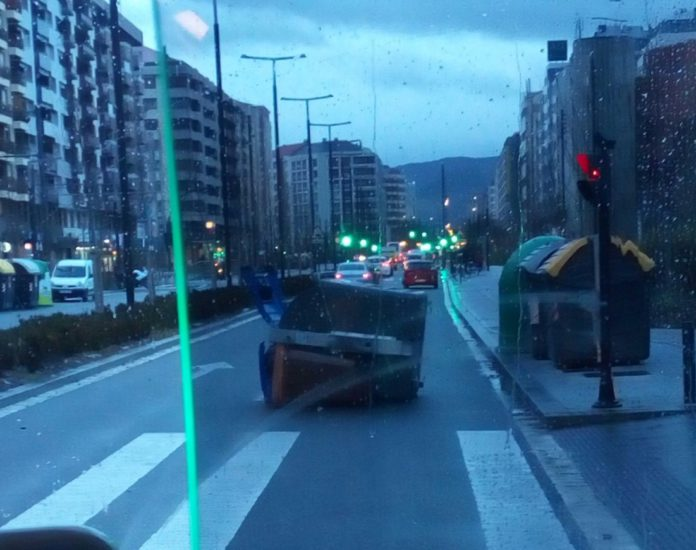 incidentes por rachas de viento en vitoria
