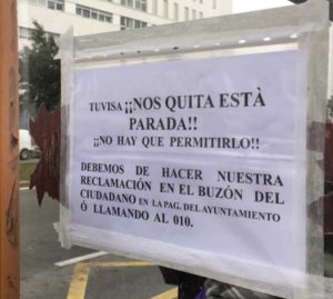 Quieren quitar paradas de bus Mariturri
