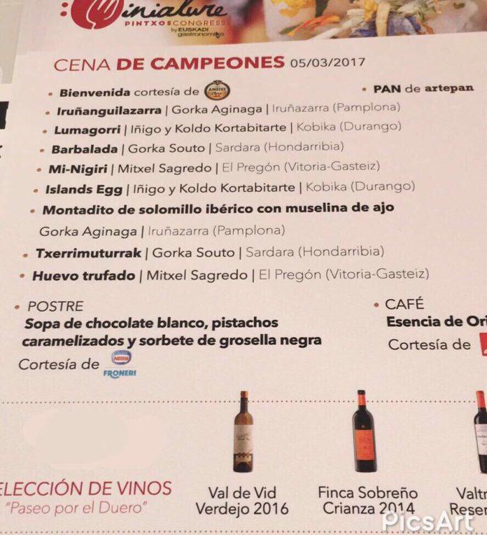 vinos miniatur pintxos congress