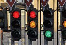 semáforo rojo