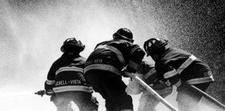 bomberos agua fiestas vitoria