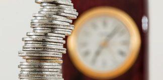 cuentas monedas reloj