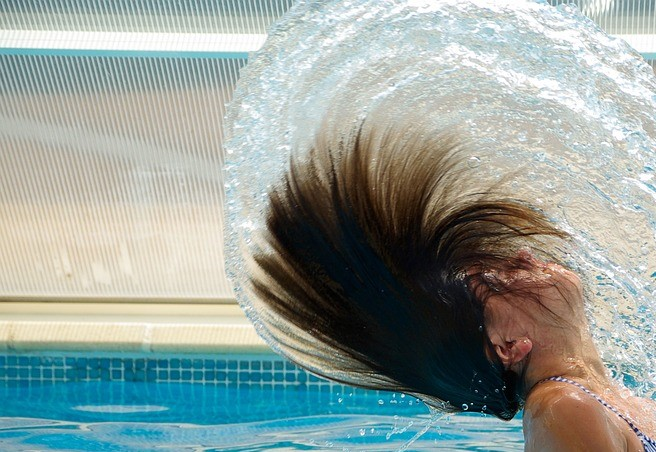 gorros baño piscina pelos regurgitar