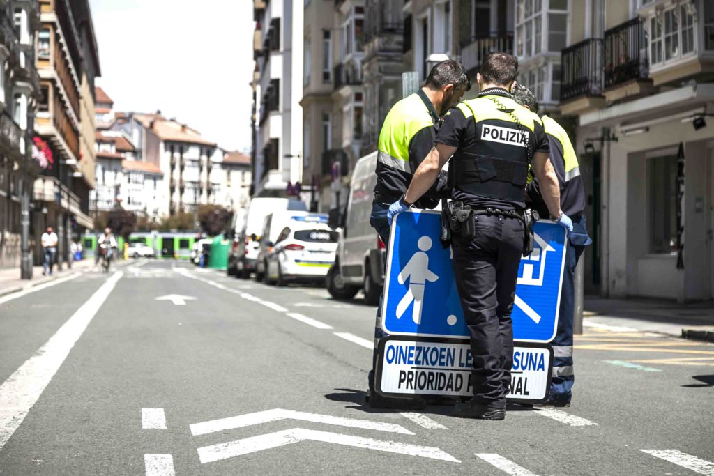 coronavirus policia moto vitoria