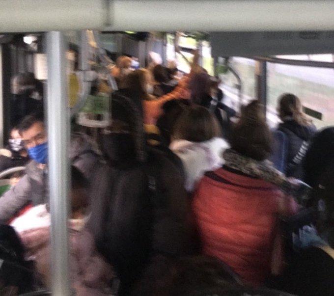 autobus lleno vitoria