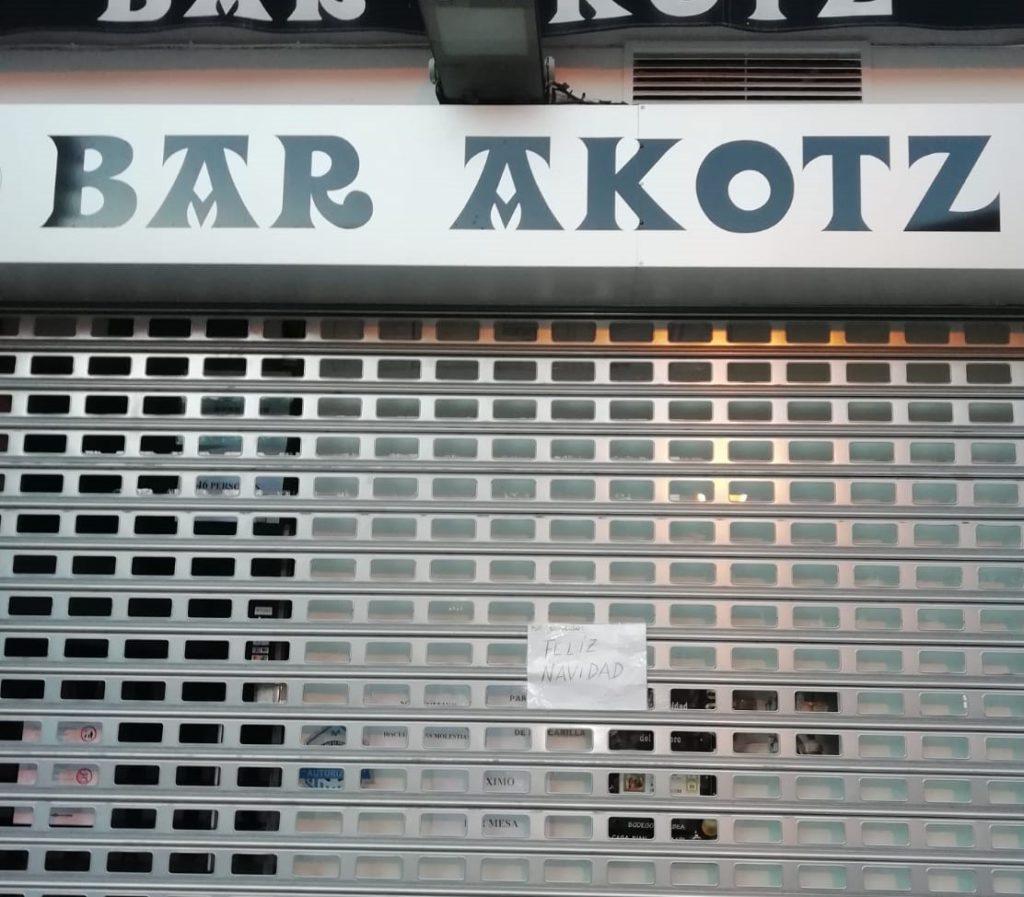 cartel akotz bar vitoria