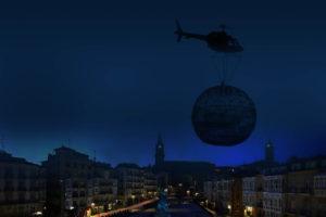 helicoptero bola gigante vitoria nortexpres 2020