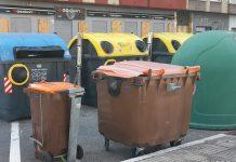 Amontonan contenedores en Vitoria provocando riesgos