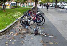 Desvalijan en Vitoria bicis candadas en aparcamientos